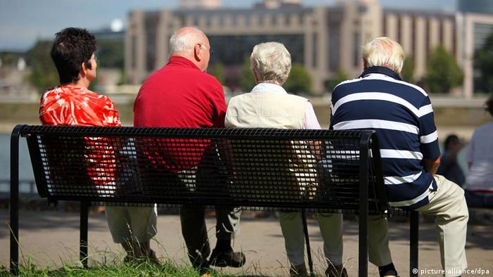 Retirees on a bench