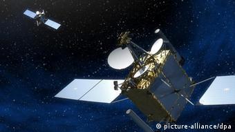 Компьютерное изображение спутниковой системы бундесвера COMSATB