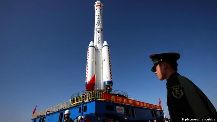 Запуск китайской ракеты