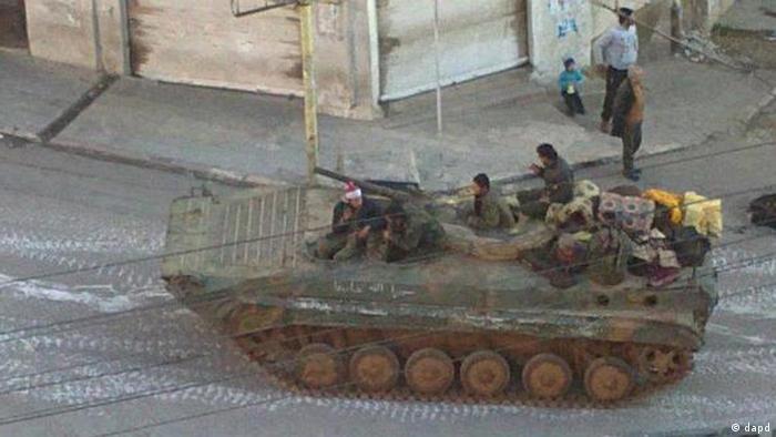 Syrien Panzer Patrouille