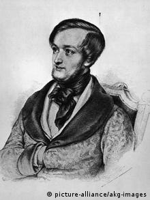 A portrait of Richard Wagner, 1842