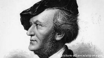 Richard Wagner im Profil.