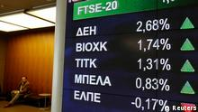 Steigende Kurse an der Börse in Athen