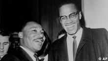 AP Iconic Images Martin Luther King mit Malcolm X