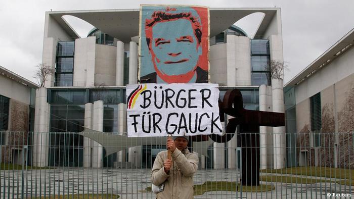 Kanzleramt Koalitionsspitzen Bundespräsidentenwahl Demonstration