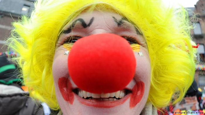 Clown with a red nose, Copyright: picture-alliance/dpa