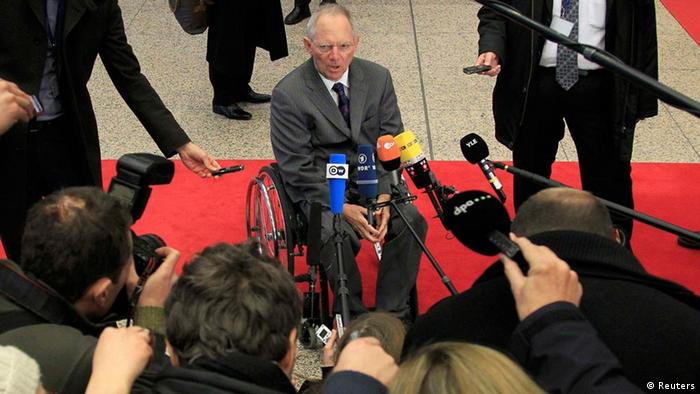 Germany's Finance Minister Wolfgang Schaeuble . REUTERS/Yves Herman