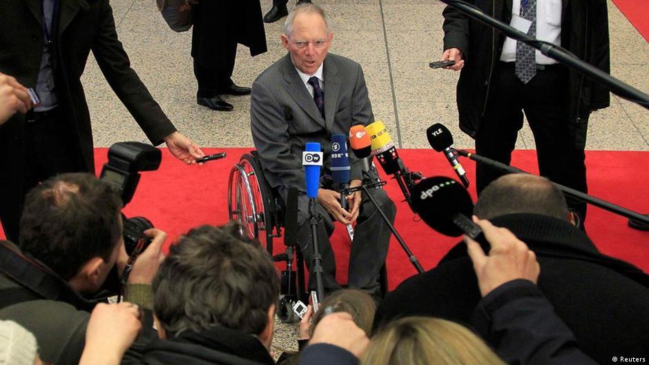 Eurogroup Treffen in Brüssel