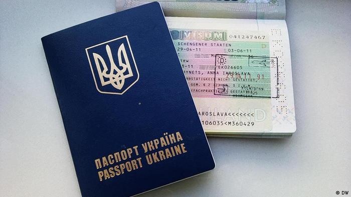 Украинский пасрорт с шенгенской визой