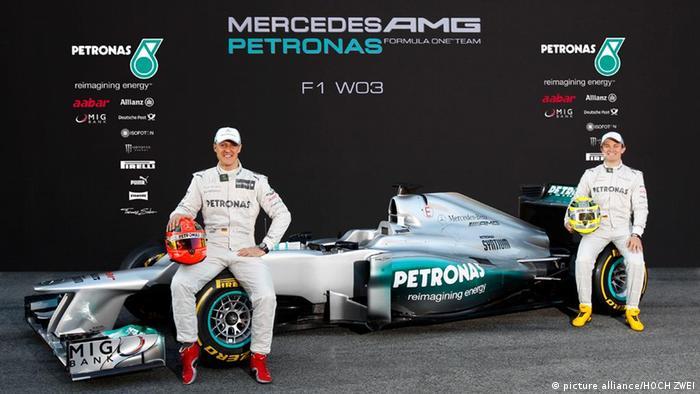 Michael Schumacher y Nico Rosberg.