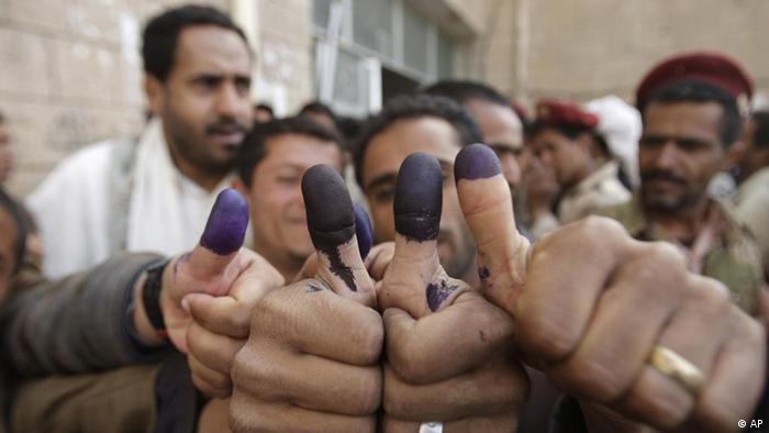 در انتخابات ریاستجمهوری یمن بیش از ۹۹ درصد مردم به هادی که تنها نامزد انتخاباتی بود رای دادند