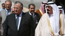 عربستان سعودی سفیر خود در قاهره را به اجلاس بغداد فرستاده است