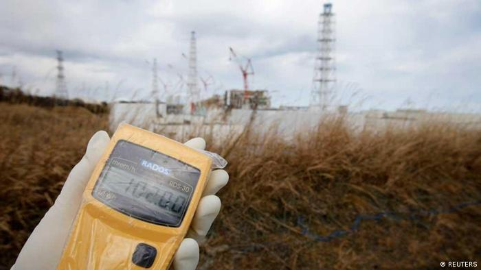 A radiation monitor indicates 102.00 microsieverts per hour at Tokyo Electric Power Co. (TEPCO)'s tsunami-crippled Fukushima Daiichi nuclear power plant in Fukushima prefecture, February 20, 2012.