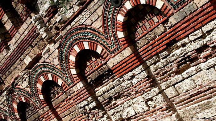 Kirchenmauer in Nessebar Bulgarien