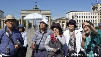 Chinesische Touristen in Berlin