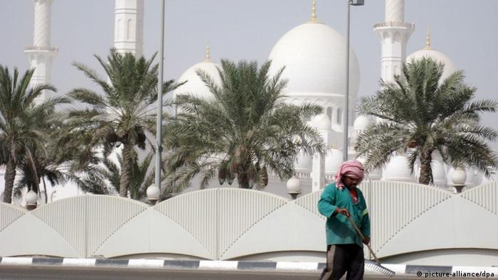 Symbolbild Moderne Sklaverei Menschenhandel Golfstaaten