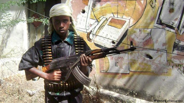 A young al-Shabab soldier prepares to join fighting