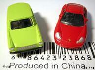 中国制造的玩具汽车模型