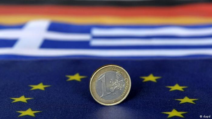 Flagge EU Griechenland Fahne Symbolbild