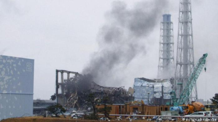 Smoke billows from the No. 3 reactor of the Fukushima Daiichi Nuclear Power Station in Fukushima