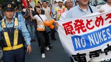 تظاهرات بر ضد استفاده از انرژی هستهای در توکیو، پایتخت ژاپن