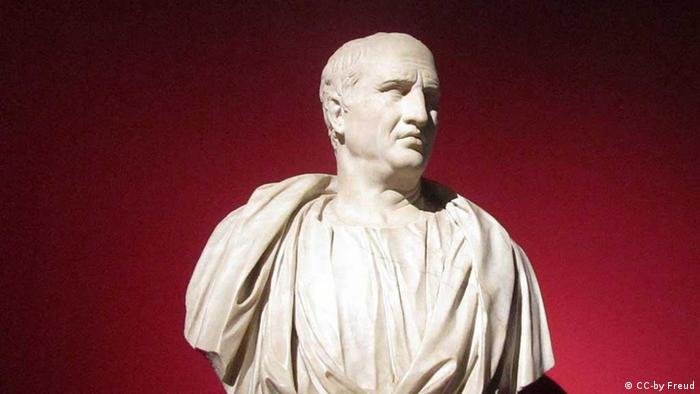 A bust of Cicero from Rome's Capitolinum museums