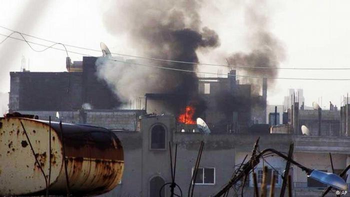 منطقهی بابا عمرو در حمص (سهشنبه، ۲۱ فوریه)
