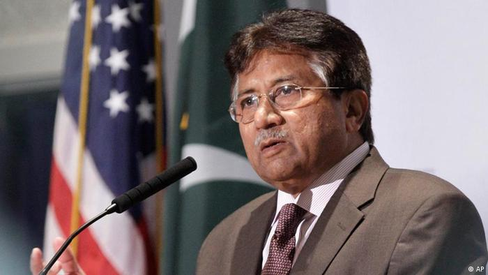 Former Pakistani President Pervez Musharraf speaks at a University of Arkansas Clinton School of Public Service lecture in Little Rock, Ark., Thursday, Oct.20, 2011. (AP Photo/Danny Johnston)