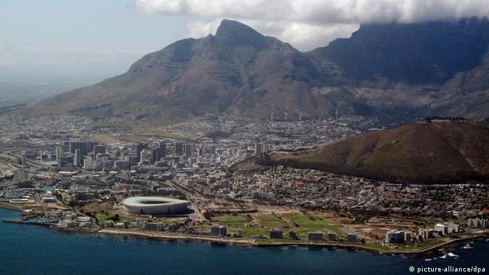 Aerial view of Cape Town, South Africa. Photo: EPA/JON HRUSA