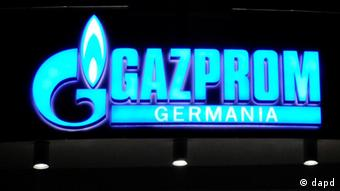 Erleuchtetes Gazprom-Logo (Foto: dapd)