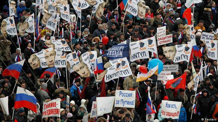 Pro-Putin Demonstrationen in Moskau (Foto: Reuters)