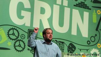 Malte Spitz at the Green party congress in Kiel in 2011