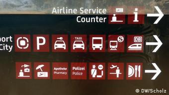 Znakovi na aerodromu u Berlinu