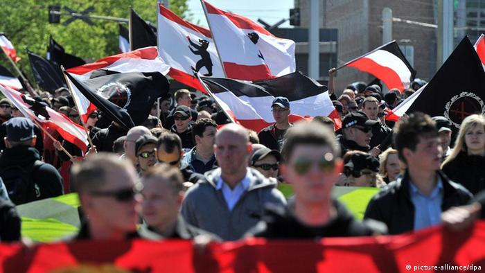 neo-Nazis demonstrate in Halle in 2011