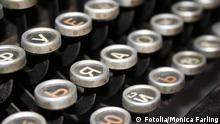 Kyrillisch Schreibmaschine Tasten