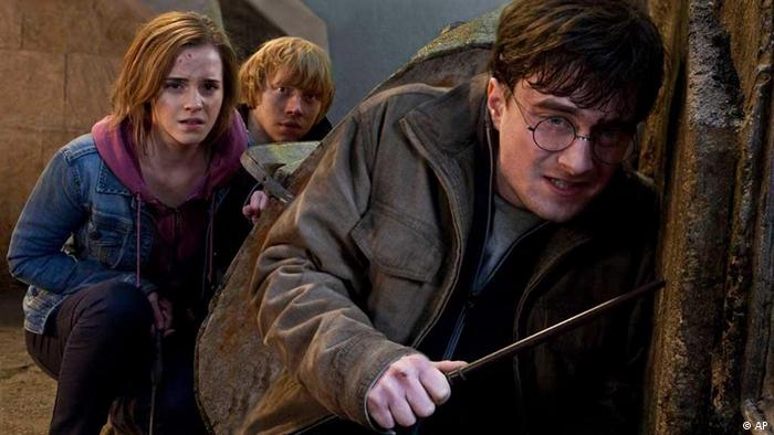 FILE- In this file film publicity image released by Warner Bros. Pictures, from left, Emma Watson, Rupert Grint and Daniel Radcliffe are shown in a scene from Harry Potter and the Deathly Hallows: Part 2. (AP Photo/Warner Bros. Pictures, Jaap Buitendijk, File)
