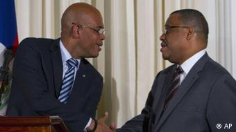 Haiti's President Michel Martelly and former Prime Minister Garry Conille