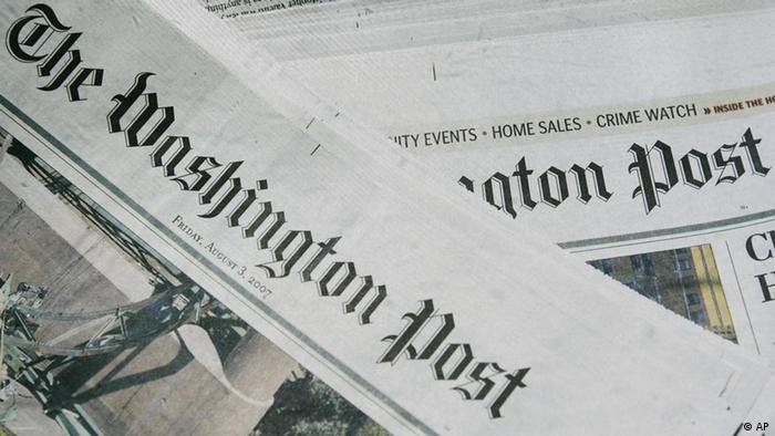 Editions of the Washington Post newspaper