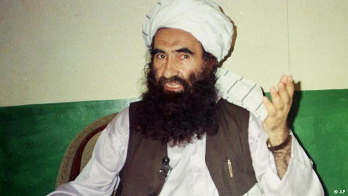 Jalaluddin Haqqani, founder of the militant group the Haqqani network, speaks during an interview in Miram Shah, Pakistan (AP Photo/Mohammed Riaz, File)