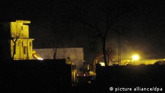 Zerstörtes ehemaliges Anwesen von Osama Bin Laden in Abbottabad Pakistan