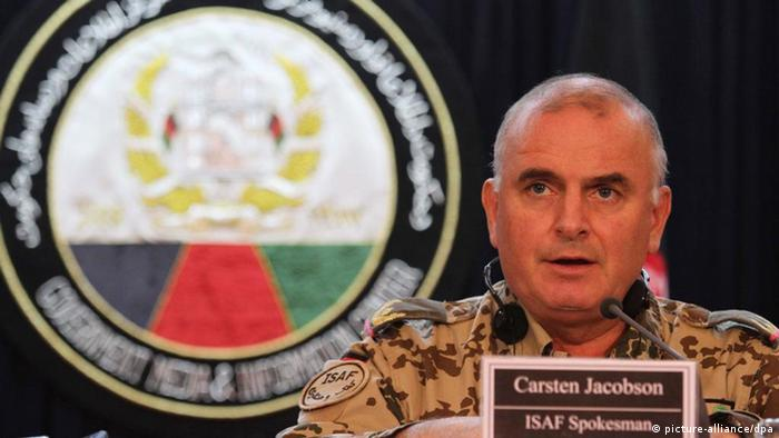 Carsten Jacobson als ISAF-Sprecher im Jahr 2012 (Foto:picture alliance/dpa)