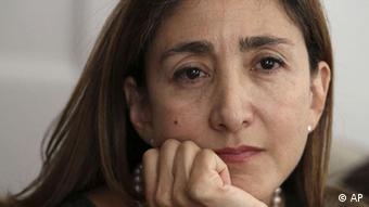 Ingrid Betancourt, author of Even Silence Has an End: My Six Years of Captivity in the Colombian Jungle, pauses as she is interviewed Tuesday, Sept. 21, 2010 in New York. (Photo: AP Photo/Tina Fineberg)