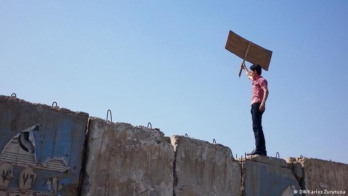 Irakische Proteste für den arabischen Frühling (Foto: DW/Karlos Zurutuza)