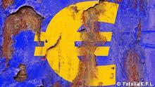 Symbolbild Eurozeichen mit Rost