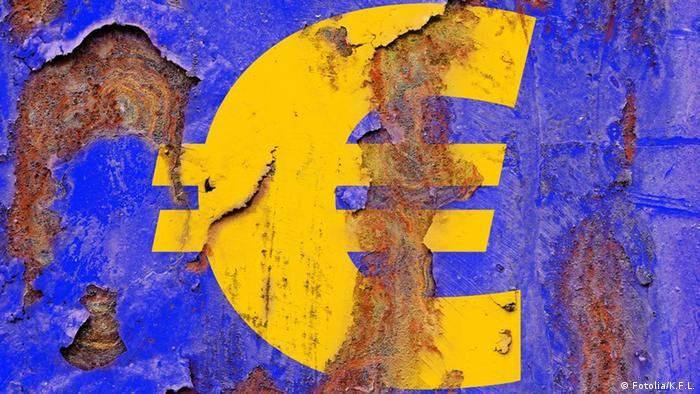 Zahrđali znak eura