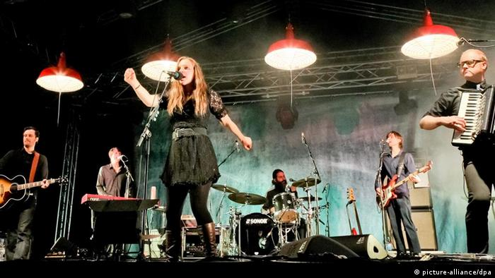 The band Wir sind Helden on stage