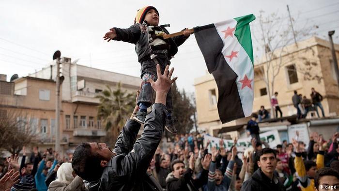 تظاهرات مخالفان رژیم اسد در شهر ادلیب