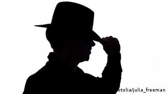 Symbolic silhouette of a spy