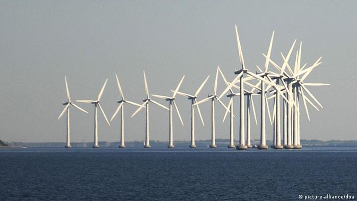 Windpark vor Kopenhagen im Meer (Foto: Marcus Brandt dpa)