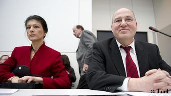 Сара Вагенкнехт и Грегор Гизи (фото из архива)